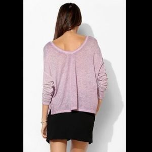 Urban outfitters lilac v-neck long sleeve top